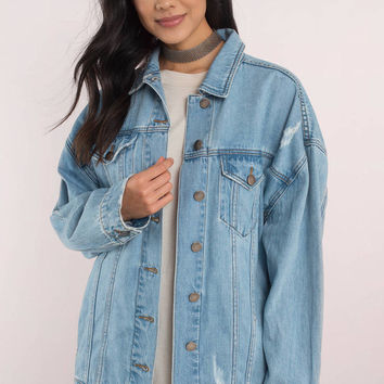 SAN VINCENTE OVERSIZED DENIM JACKET