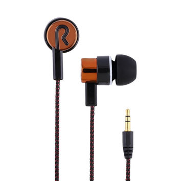 3.5mm Jack Noise Isolating Earphone Wired In-Ear Stereo Metal Headset Piston Earbuds Universal For Xiaomi iPhone Samsung S6 Mp3