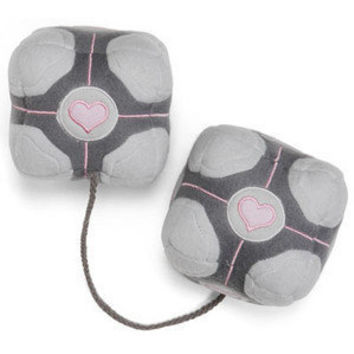"Portal Weighted Companion Cube ""Fuzzy Dice"""