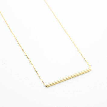 Round bar necklace