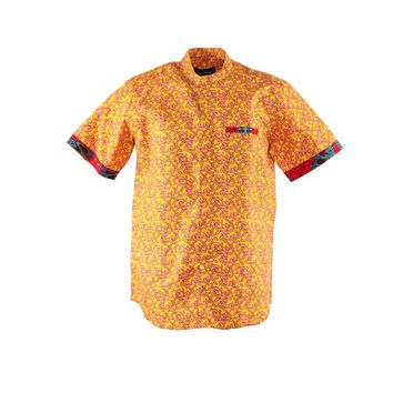 Slim Fit African Shirt for Men - Ankara Shirt- African Casual Shirt