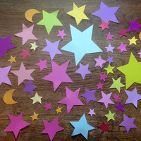 pack ephemera stars 54 pcs - disney, cutouts embellishment for scrapbooking, junk diary, art altered, collage, ephemera
