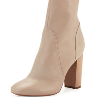 Derek Lam 10 Crosby Alma Leather Ankle Boot, Taupe