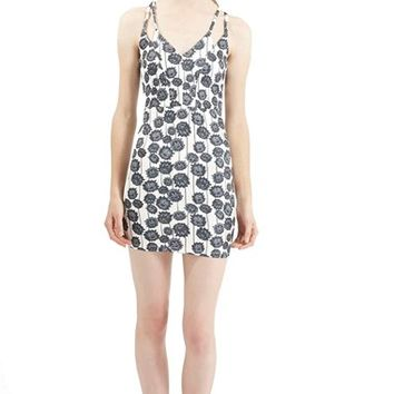 Women's Topshop Strappy Floral Body-Con Dress,
