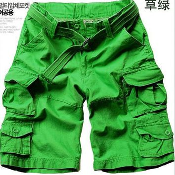 HOT 2017 Summer Outdoor Sport tactical Multi-Pocket Cargo camo militar army treking Loose Shorts Men Plus Size XXXL
