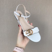 2018 Gucci series new flat sandals 6.5cm high
