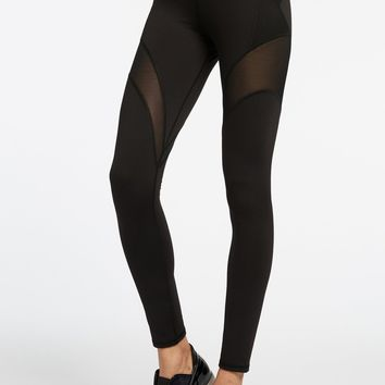 Michi Illusion Leggings- Black Croc | High End Workout Leggings