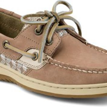 Sperry Top-Sider Bluefish 2-Eye Boat Shoe Greige/ZigZag, Size 12M  Women's Shoes