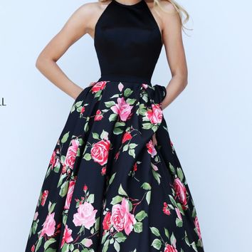 Floral Printed Ball Gown by Sherri Hill