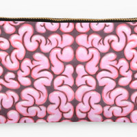 Brains cosmetic bag clutch