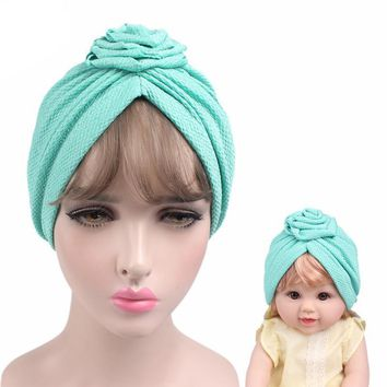 Baby And Mom Rose Flower Turban Headbands