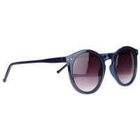 Navy Round Sunglasses