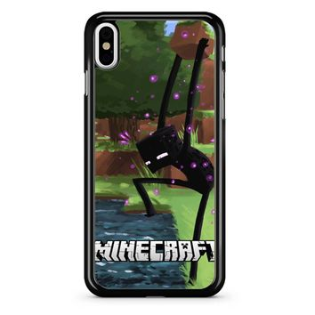 Minecraft Enderman And Water iPhone X Case
