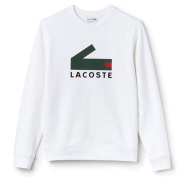 DCCKN6V Lacoste Fashion Trending  Men Pullover Long Sleeve Sweater White G-KWKWM