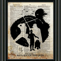 Star wars art print, Return of The Jedi poster, vintage star wars art, dictionary print