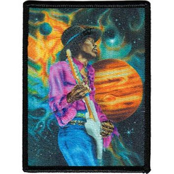 Jimi Hendrix Iron-On Patch Planet Space