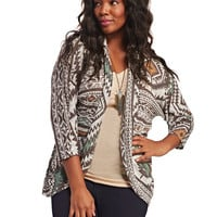 Tribal Open Cardi | Wet Seal+
