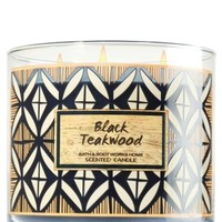 3-Wick Candle Black Teakwood