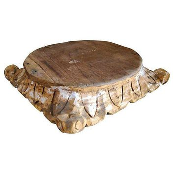 pedestal wood octagonal table accent wooden