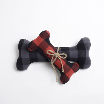 Buffalo Plaid Dog Bone