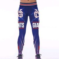 New York Giants L/XL Womens Leggings #13 Odell Beckham Jr Football Yoga NWT