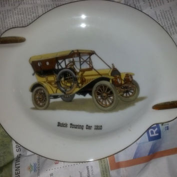 vintage Porcelain Ashtray 1910 Buick Touring Car