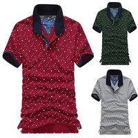 Star Pattern Polo Tee