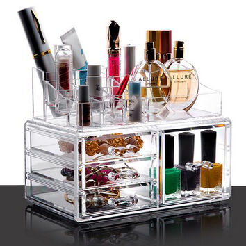 PuTwo Makeup Organiser Lipstick Holder 4 Drawers Make Up Storage