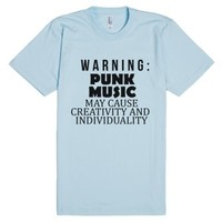 GENERAL - Punk Music-Unisex Light Blue T-Shirt