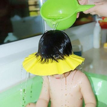 Shampoo Cap Waterproof Hat Soft Baby Kids Shampoo Bath Shower Cap Adjustable Baby Shower Hat Baby Shampoo Cap Wash Hair Shiel