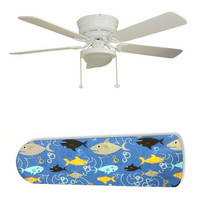"Fish Frenzy Swimming Shark 52"" Ceiling Fan with Lamp"