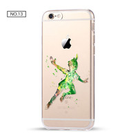 Peter Pan Clear Soft Disney Phone Case For iPhone 7 7Plus 6 6s Plus 5 5s SE C