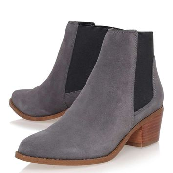 **Spider Grey Low Heel Ankle Boots By Miss KG | Topshop
