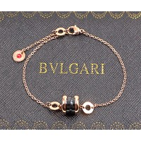 BVLGARI Charity Little Red Man Black Ceramic Bracelet Men and Women Couple Bracelet F-HLYS-SP