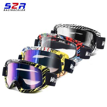 S2R Motocross Glasses Cycling Glasses Off Road Helmets Ski Goggle Motorcycle Dirt Bike Racing Goggles Clear Safety Glasses Gafas