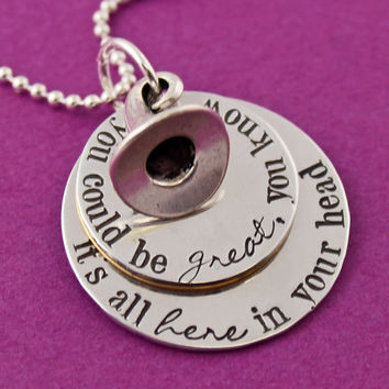 Harry Potter Necklace - Sorting Hat Necklace - You Could Be Great You Know - Not Slytherin Sorting Hat Quote