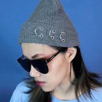 O-Ring Knitted Beanie