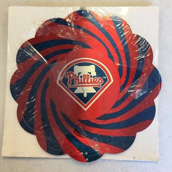 PHILADELPHIA PHILLIES INDOOR OUTDOOR METAL WIND SPINNER