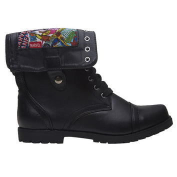 Marvel Comics™ Foldover Combat Boots | Wet Seal
