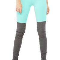 Goddess Legging - Island Green Glossy/Stormy Heather - New Arrivals - Featured | ALO Yoga