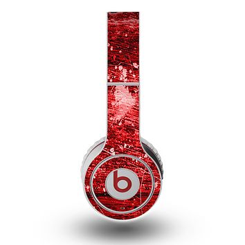 The Red Grunge Paint Splatter Skin for the Original Beats by Dre Wireless Headphones