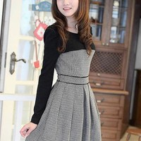 $ 22.19 Korean Style Split Joint Sweater Dress