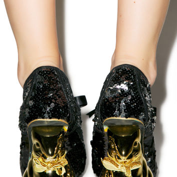 Irregular Choice Disco Bunny Heels Black