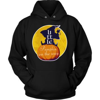 Little Pumpkin on the Way Pregnancy Happy Halloween Hoodie