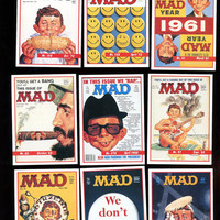 MAD MAGAZINE Vintage 1992 Lime Rock Card Lot of 9 Cards (one is a checklist)  Fun Selection, Free Shipping