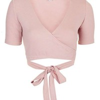 **Wrap Crop Top by Glamorous - New In Brands - New In