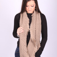 Wrap It Up Beige Infinity Scarf