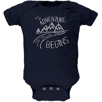 Camping So The Adventure Begins Soft Baby One Piece
