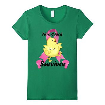 Women's Breast Cancer Survivor Chick t-shirt