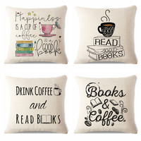 Square Sofa/Bed Printed Pillow Cover